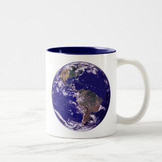 Planet Earth Two-Tone Mug