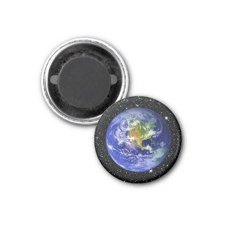 PLANET EARTH v3 star background (solar system) ~ 3 Cm Round Magnet