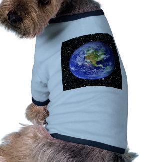 PLANET EARTH v3 star background (solar system) ~ Ringer Dog Shirt