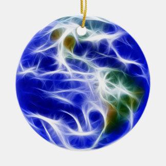 Planet Earth World Globe Round Ceramic Decoration