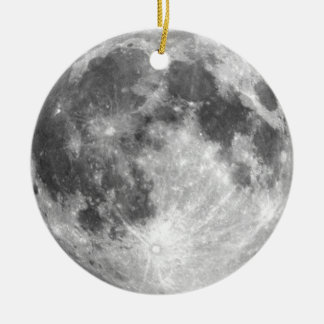 PLANET EARTH'S MOON (solar system) ~ Round Ceramic Decoration