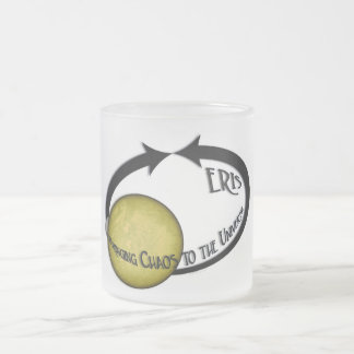 Planet Eris Bringing Chaos To The Universe Frosted Glass Mug
