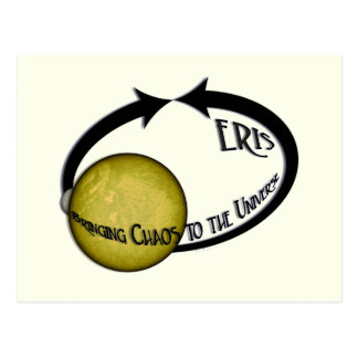 Planet Eris Bringing Chaos To The Universe Postcard