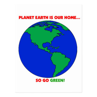 Planet Green Items. Post Card