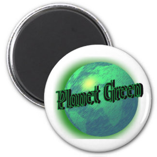 Planet Green 6 Cm Round Magnet