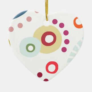 Planet Happy Ceramic Heart Decoration
