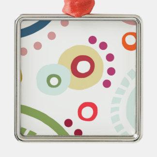 Planet Happy Silver-Colored Square Decoration
