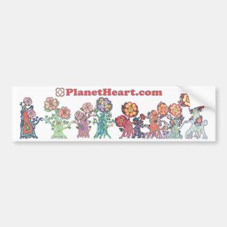 Planet Heart featuring the HeartMarking HeartFlowe Bumper Sticker