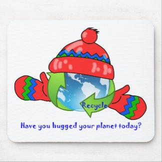 Planet Hug Recycle Mousepad