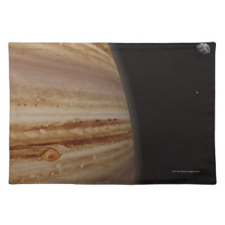 Planet Jupiter and a Distant Moon Placemat