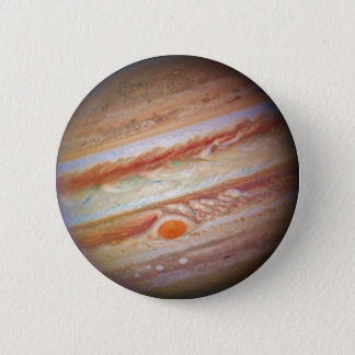 PLANET JUPITER - red spot head on (solar system) ~ 6 Cm Round Badge