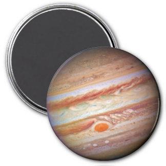 PLANET: JUPITER (red spot head on solar system) ~ 7.5 Cm Round Magnet