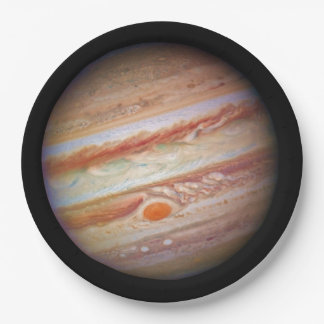 PLANET JUPITER ` red spot head on (solar system) ~ 9 Inch Paper Plate
