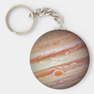 PLANET JUPITER - red spot head on (solar system) ~ Key Ring