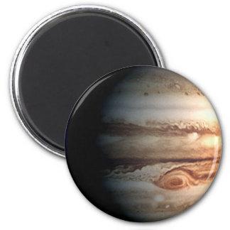 PLANET JUPITER (solar system) ~.png 2 Inch Round Magnet