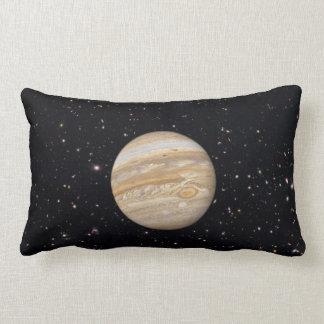 Planet Jupiter Starry Sky Lumbar Throw Pillow