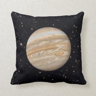 Planet Jupiter Starry Sky Throw Pillow