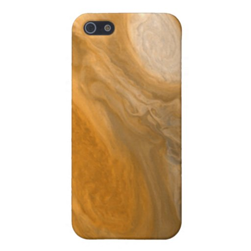 Planet Jupiter Swirling Storms and Big Red Spot iPhone 5 Cover