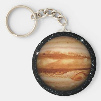 PLANET JUPITER v.3 star background (solar system) Key Ring