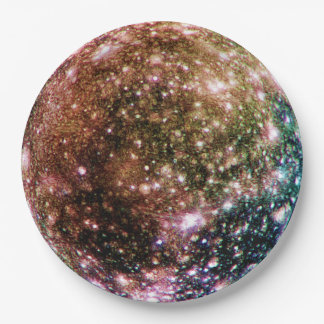 PLANET JUPITER'S MOON - CALLISTO.png 9 Inch Paper Plate