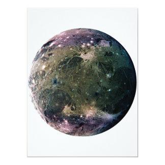 PLANET JUPITER'S MOON GANYMEDE (solar system) ~~ 17 Cm X 22 Cm Invitation Card