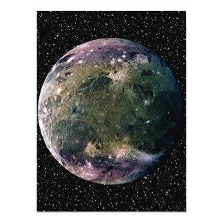 PLANET JUPITER'S MOON GANYMEDE star background ~ 17 Cm X 22 Cm Invitation Card