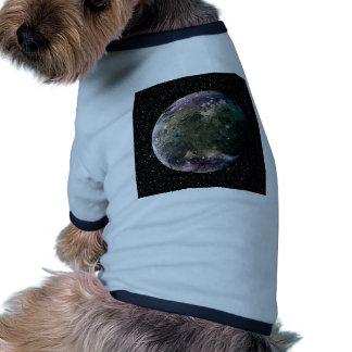 PLANET JUPITER'S MOON GANYMEDE star background ~ Ringer Dog Shirt