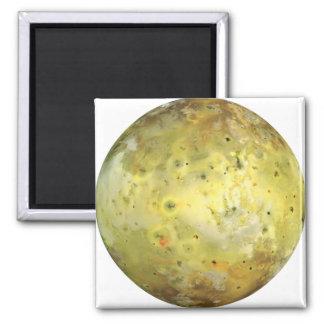 PLANET JUPITER'S MOON IO true color (solar system) Square Magnet