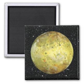 PLANET JUPITER'S MOON IO true color  (space) ~ Square Magnet