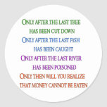 Planet Lament Round Stickers