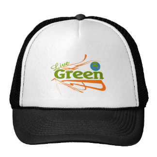planet live green mesh hat