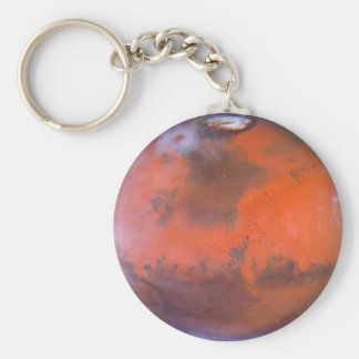 Planet Mars . Basic Round Button Key Ring