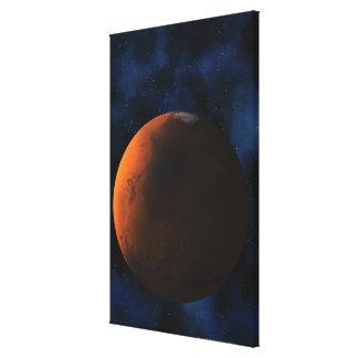 Planet mars canvas print