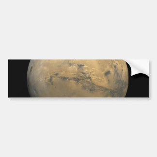 Planet Mars in the solar system NASA Bumper Sticker