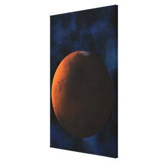Planet mars stretched canvas print