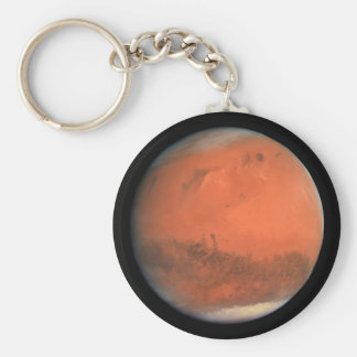 PLANET MARS true color natural (solar system) ~ Basic Round Button Key Ring