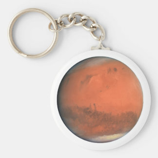 PLANET MARS true color natural (solar system) ~~ Basic Round Button Key Ring