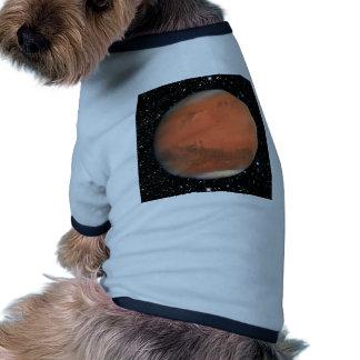 PLANET MARS true color star background ~ Ringer Dog Shirt