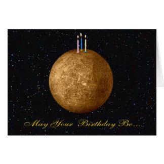 Planet Mercury Birthday Card