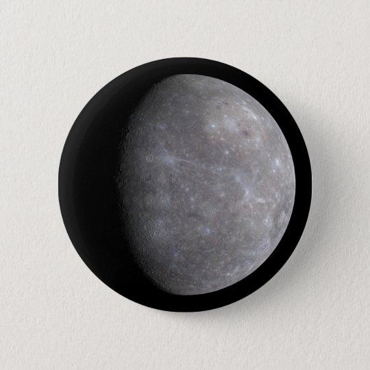 Planet Mercury in space 6 Cm Round Badge
