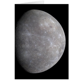 Planet Mercury in space Card