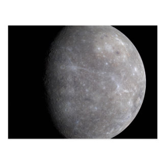 Planet Mercury in space Postcard