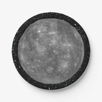 PLANET MERCURY star background (solar system) ~ 7 Inch Paper Plate