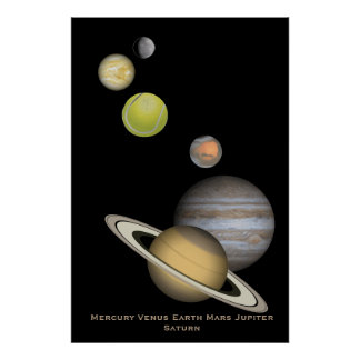 Planet montage poster