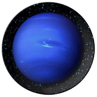 PLANET NEPTUNE Star Background (solar system) ~~~. Porcelain Plates