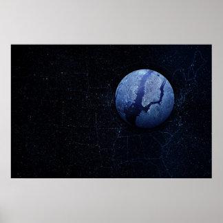 Planet - New York Poster