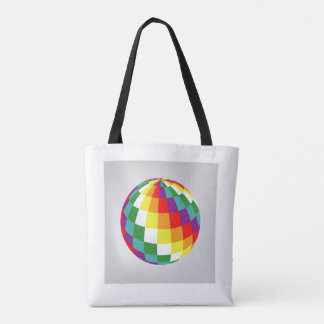 Planet of colors tote bag