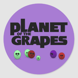 Planet of the Grapes Classic Round Sticker