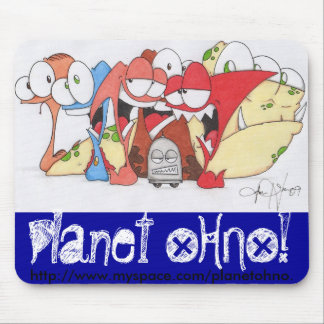 Planet OHNO! Spring Line Mouse Mat
