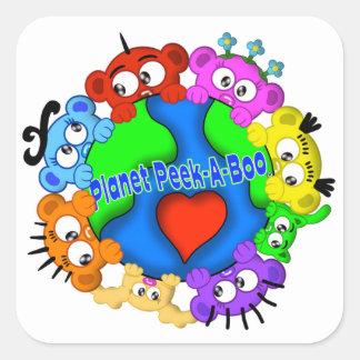 Planet Peek-A-Boo Logo Sticker